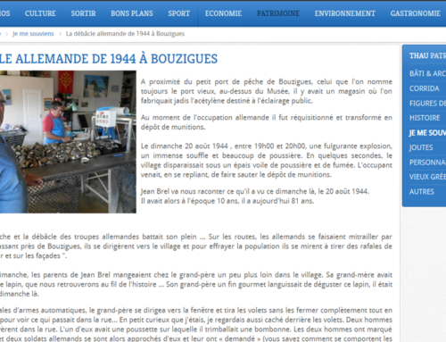 La débâcle de 1944 à Bouzigues (Thau Infos)