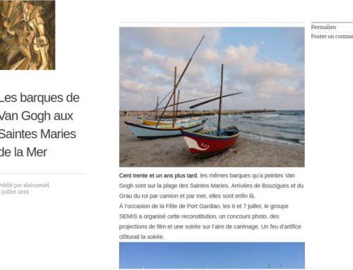 Les barques de Van Gogh aux Saintes Maries de la Mer (Alain Amiel Blog)
