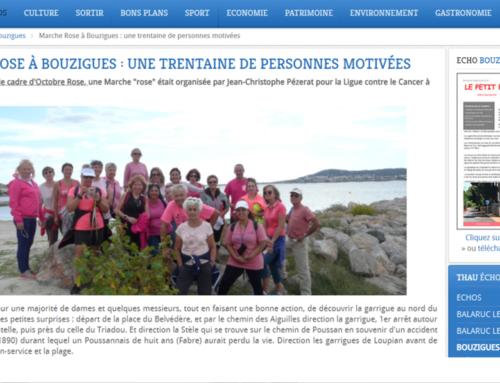 Marche Rose à Bouzigues : une trentaine de personnes motivées… (Thau Infos)