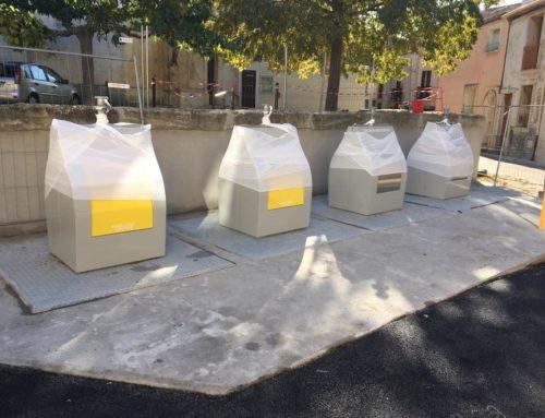 Nouveaux conteneurs enterrés Place de la Victoire