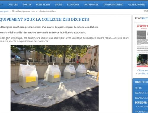 Nouvel équipement pour la collecte de déchets… (Thau Infos)