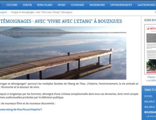 Images et Témoignages : Avec «Vivre avec l'Etang» à Bouziggues (Thau Infos)