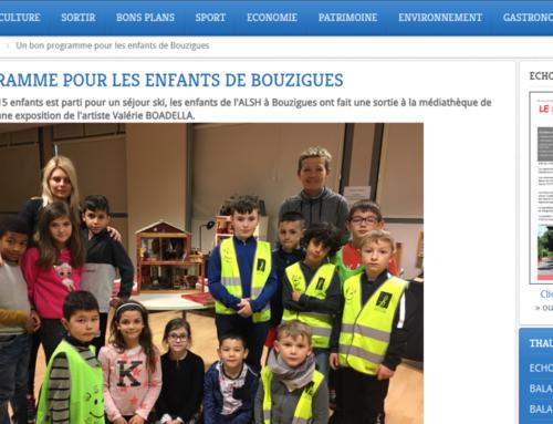UN BON PROGRAMME POUR LES ENFANTS DE BOUZIGUES (THAU INFOS)
