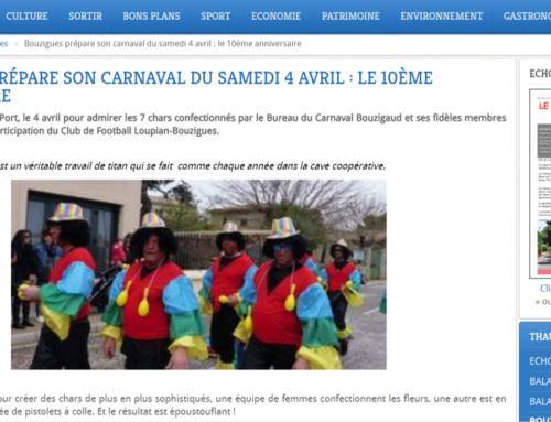Bouzigues prépare son carnaval (THAU INFOS)