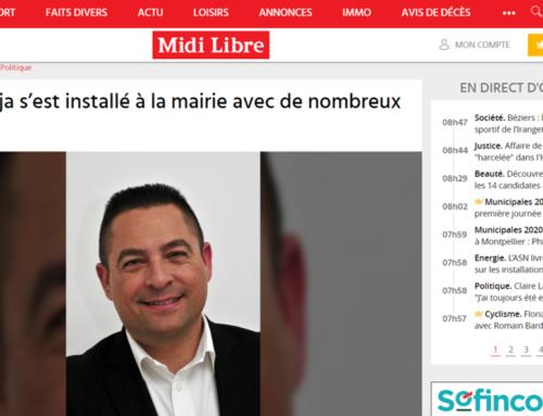 Cédric Raja s'est installé à la mairie avec de nombreux projets (Midi Libre)