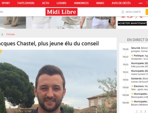 Jean-Jacques CHASTEL, plus jeune élu du conseil (Midi Libre)
