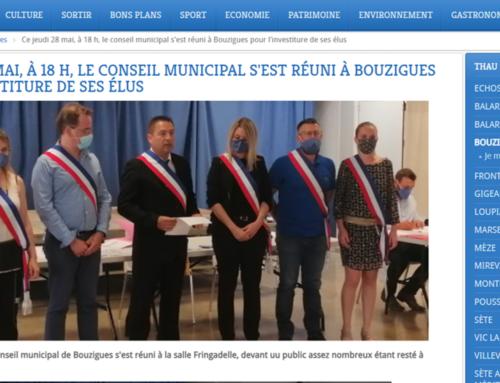 Le Conseil Municipal s'est réuni à Bouzigues pour l'investiture de ses élus (Thau Infos)