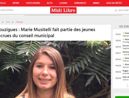 Marie Musitelli fait partie des jeunes recrues du conseil municipal (Midi Libre)