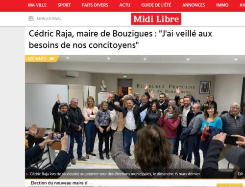 Cédric Raja, maire de Bouzigues : «J'ai veillé aux besoins de nos concitoyens» (Midi Libre)