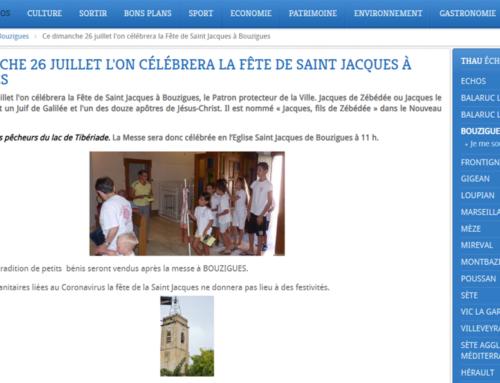 CE DIMANCHE 26 JUILLET L'ON CÉLÉBRERA LA FÊTE DE SAINT JACQUES À BOUZIGUES (Thau Info)