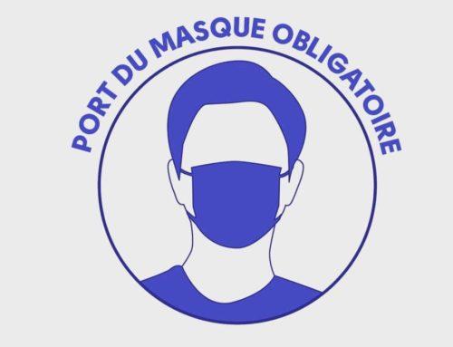 Obligation du port du masque prolongée jusqu'au 30 septembre