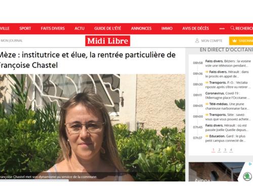 Institutrice et élue, la rentrée particulière de Françoise CHASTEL