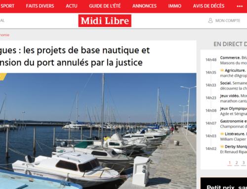Bouzigues : les projets de base nautique et d'extension du port annulés par la justice (Midi Libre)