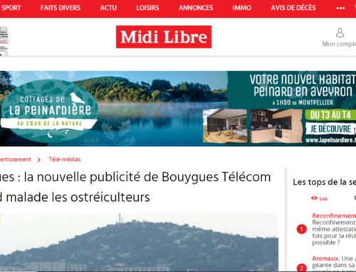 Bouzigues : la nouvelle publicité de Bouygues Télécom qui rend malade les ostréiculteurs (Midi Libre)