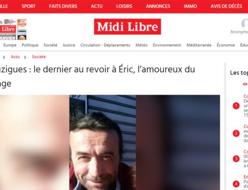 Bouzigues : le dernier au revoir à Éric, l'amoureux du village (Midi Libre)