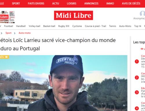 Le Sétois Loïc Larrieu sacré vice-champion du monde d'Enduro au Portugal