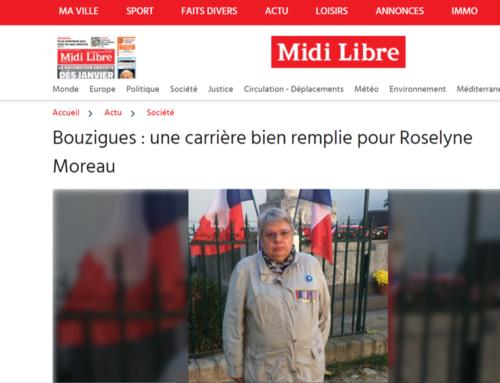 Bouzigues : une carrière bien remplie pour Roselyne Moreau (Midi Libre)