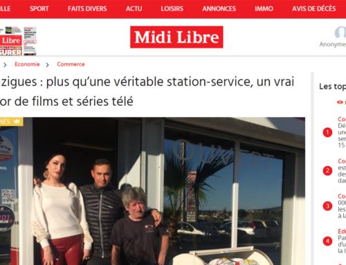 Bouzigues : plus qu'une véritable station-service, un vrai décor de films et séries télé (Midi Libre)