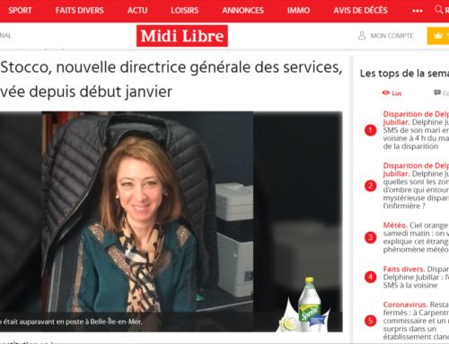 Karine Stocco, nouvelle directrice générale des services, est arrivée depuis début janvier