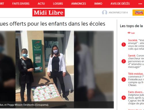 Des masques offerts pour les enfants dans les écoles (Midi Libre)