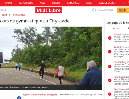 Des cours de gymnastique au City stade (Midi Libre)
