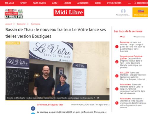 Bassin de Thau : le nouveau traiteur Le Vôtre lance ses tielles version Bouzigues (Midi Libre)