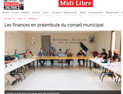 Les finances en préambule du conseil municipal (Midi Libre)