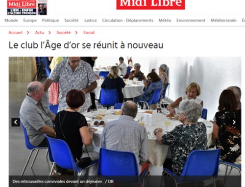 Le club l'Âge d'or se réunit à nouveau (Midi Libre)