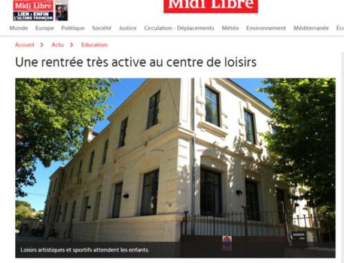 Une rentrée très active au centre de loisirs (Midi Libre)